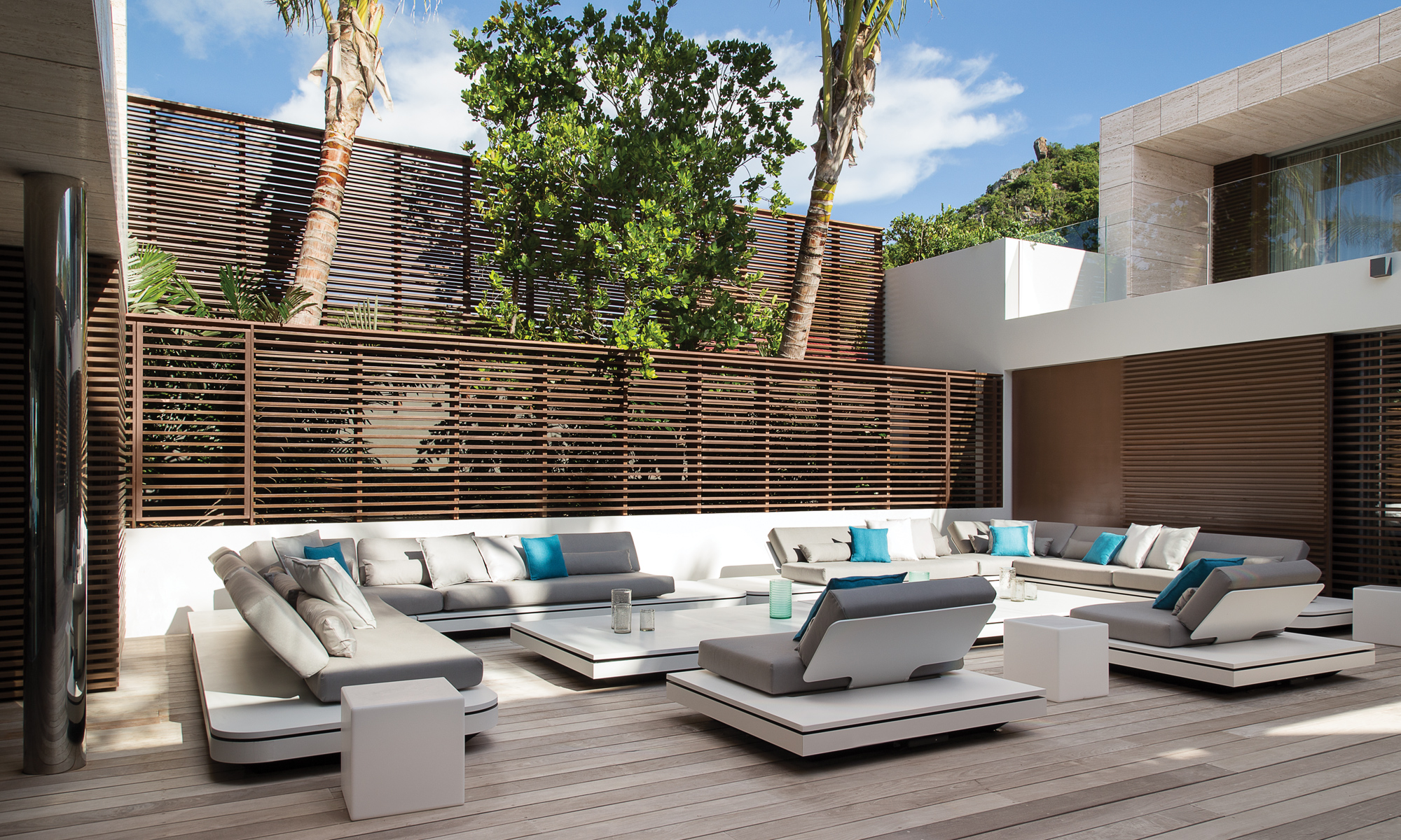 The central courtyard is at the heart of the villa and provides a secluded space to relax or entertain.