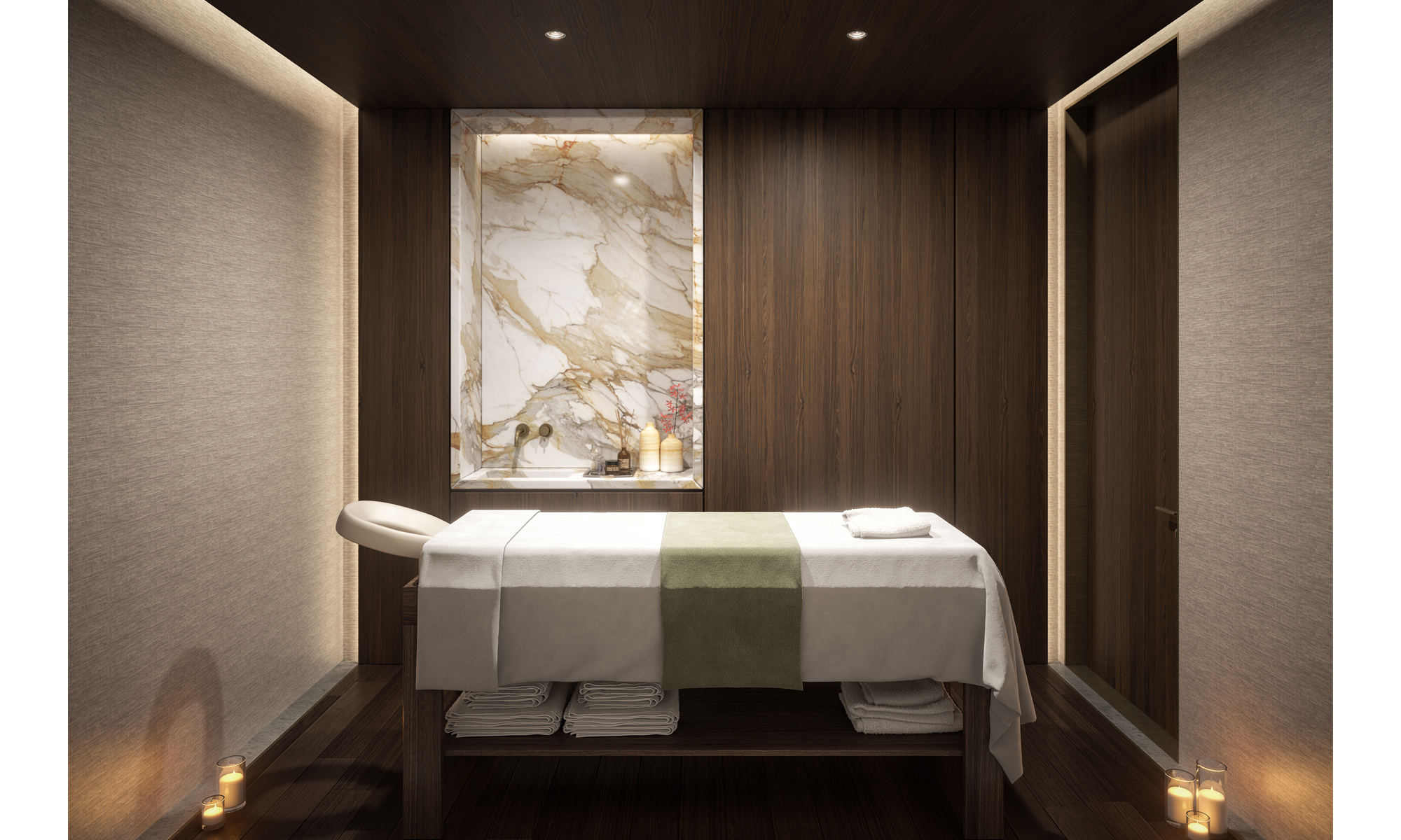 Artist's impression of a spa treatment room.